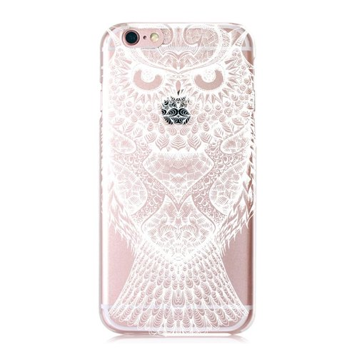 iPhone Series [J] owl transparent shell phone shell Big Tail rogue