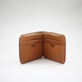 Leather-shop vintage handmade leather multi card leather vegetable tanned short wallet brown
