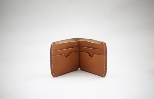 joydivision vintage handmade leather tanned cow Pi Duoka bit short brown wallet