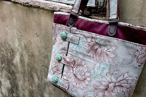 Love the Earth hand-made bag * temperament three-layer bag | choose your favorite fabric