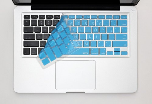 BEFINE MacBook Pro 13/15/17 special keyboard protective film (KUSO English Lion Edition) blue and white (8809305221279) This version without phonetic