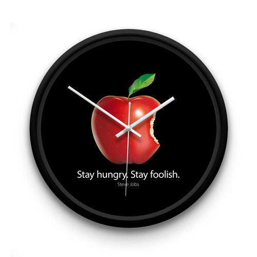 AppleWork iWatch creative wall clock: Stay hungry Stay foolish PSIC-045..