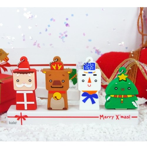 Christmas gift pen drive four groups defined shape into 8GB chip set + a Christmas gift exchange spot KALO
