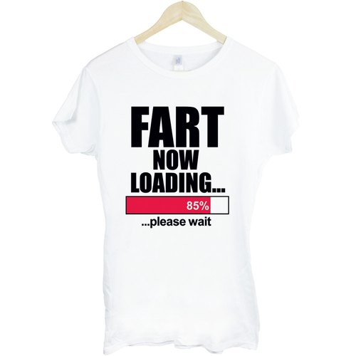 Fart Loading T-shirt -2 color girls fart humor funny fun download stylish design