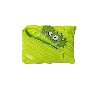 (5 fold out of clearance) -Zipit Talking dialogue monster zipper bag - (large) fluorescent green
