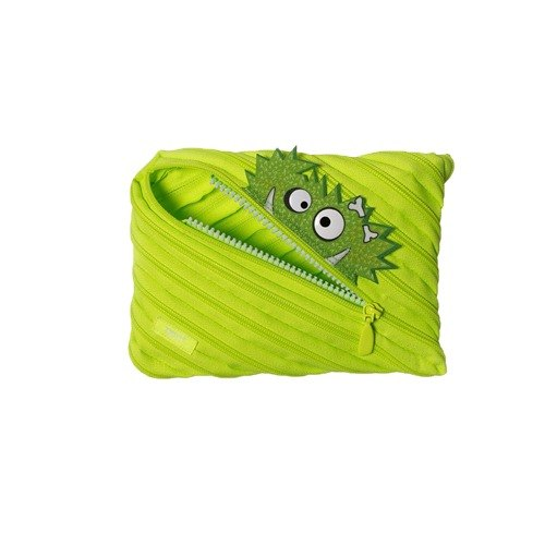 Zipit Talking dialogue monster zipper bag - (large) Fluorescent green