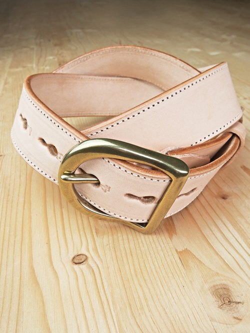 Chainloop homemade handmade belt can be customized size of the original color cowhide wide version of the belt