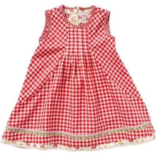 Netherlands Room Seven | Red Plaid sleeveless dress S13GDR005