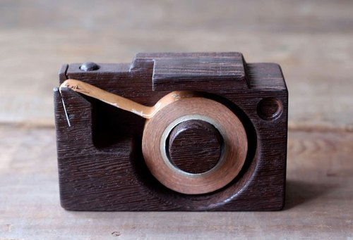 Handmade wooden miniature camera ▣ glue station