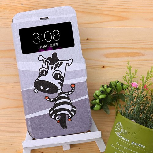 iPhone Leather Case - Cute Zebra