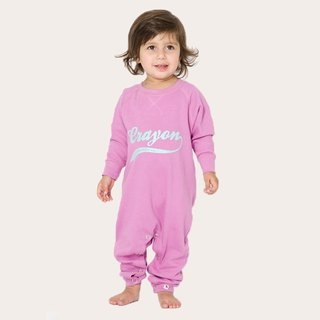 [Nordic children's clothing] Swedish organic cotton open buckle fart pink