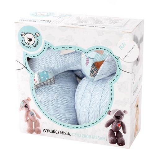 [Europe] DIY creative design made Teddy Teddy Proscar Boska & # 39;! S Teddies - Finish your teddies Series - Light Blue Patchwork