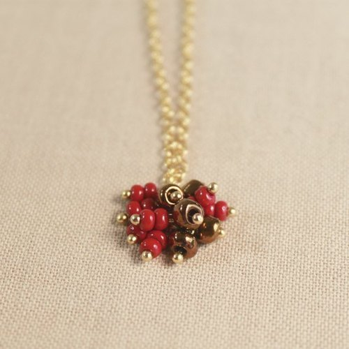 Ohappy cherry tree necklace - n30