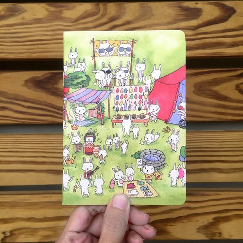 A6 Notebook | Rabbit Amusement Park