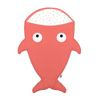 [Spanish] Shark bite a BabyBites cotton baby multi-purpose sleeping bag - red coral