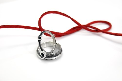 Ring Love Link Love heart infinite memories ring (men) 925 sterling silver rings -64DESIGN