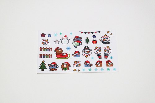 L Mr. Nose / Christmas - winter special atmosphere PDA Small stickers