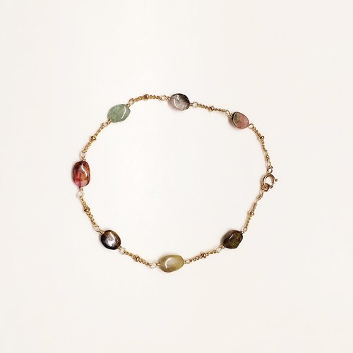 {Candy Gem Series}: colorful tourmaline bracelet // 14K gold note