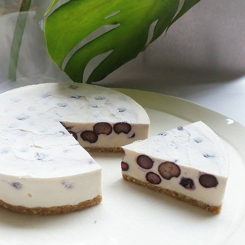 _ Vegan organic frozen blueberries Qi Si faction -snowy blueberry cheese pie