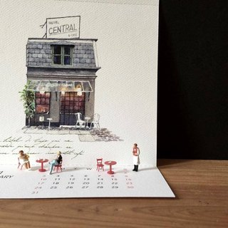 2016 hand-painted calendar - 12 stores at home