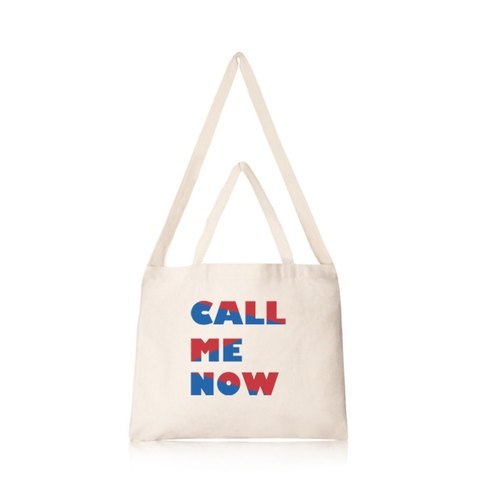 Play word series CALL ME NOW cultural and creative style horizontal canvas bag