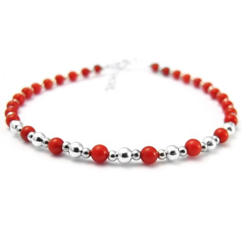 Red agate beaded bracelet beaded bracelet beaded bracelet colorful gemstone jewelry -c1 -64DESIGN