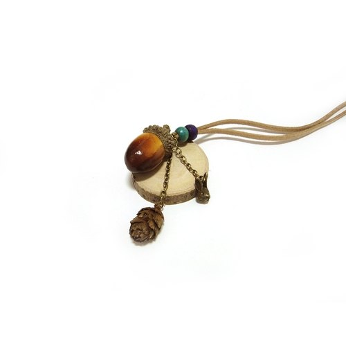 (Please note choose copper ornaments rabbit / deer / squirrel when subscript) acorn necklace