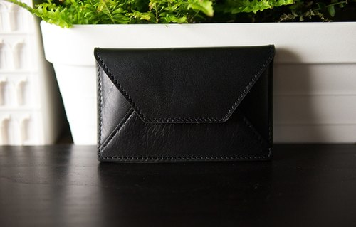 alto leather business card holder, Card Holder - Black [customizable Ray carving text, required additional purchase]