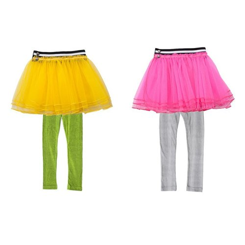 British funky-legs tutu skirt + Peng combination of fluorescent organic cotton Legging