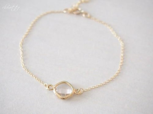 [14kgf] crystal glass Stone Bracelet