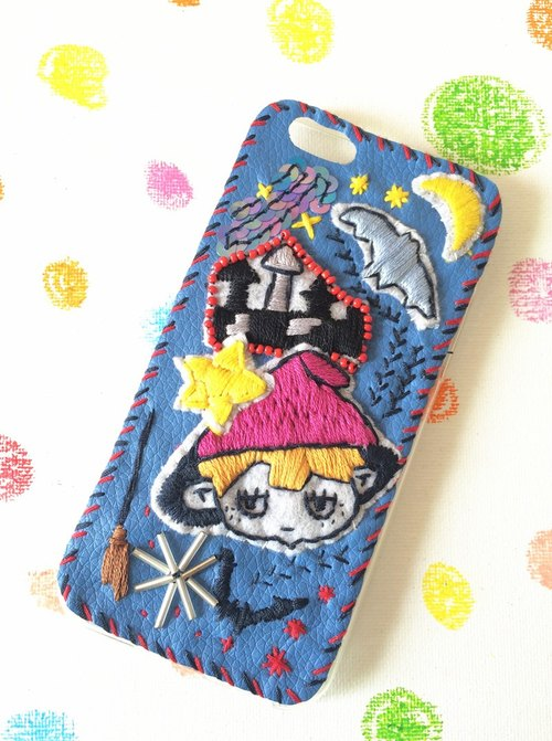 magichand little witch embroidery beading Phone Case iPhone6,7plus