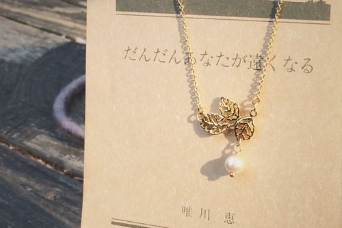 Photosynthesis cotton pearl necklace