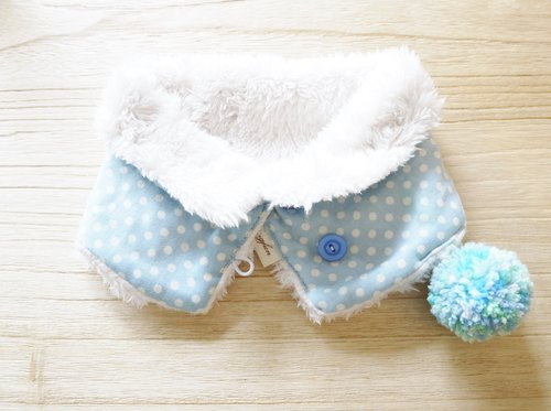 Baby warm neck circumference / Scarf - blue little
