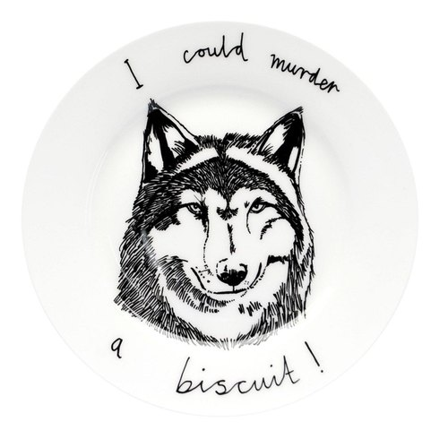 I could murder a biscuit bone china plate | Jimbobart