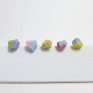 [NU Studio] ceramic series of personality with three-dimensional sugar earrings - mix new color (can change clip earrings)