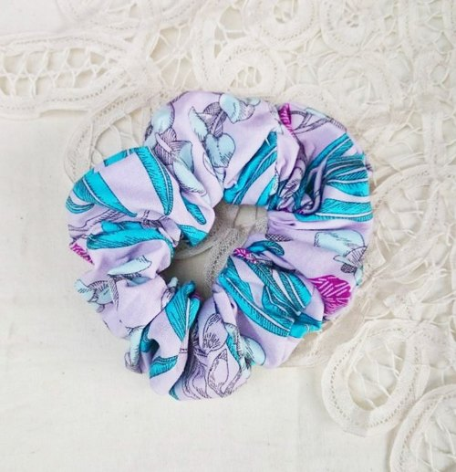 [VernaHuang hand for groceries] garden department of colorectal ring hair accessories - hand-painted purple flowers