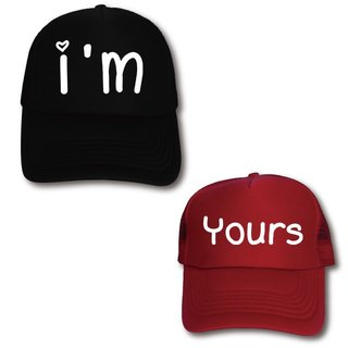 Customized couple net cap English letter show Enai 2 into the group