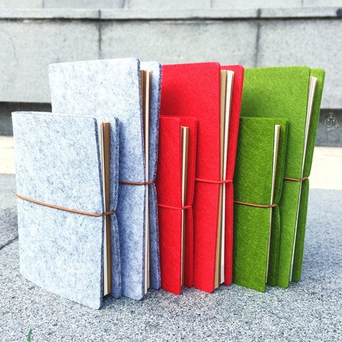 Suede leather notebook