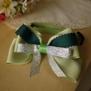 Safety x pet collar emerald green Christmas cats wind / Collar / tie / Jojo ♥ cherry pudding Cherry Pudding ♥