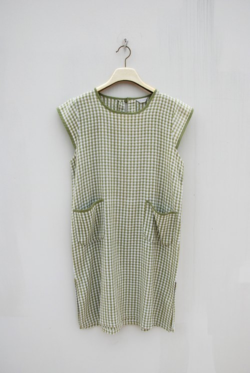 Vintage big pocket Dress