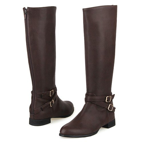 SPUR Ankle belted boots 19068 BROWN