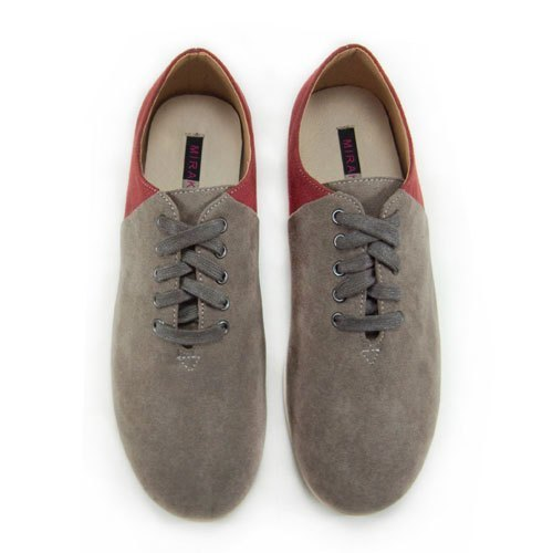 Two Tone Lace-up Shoes M1105A GreyBurgundy