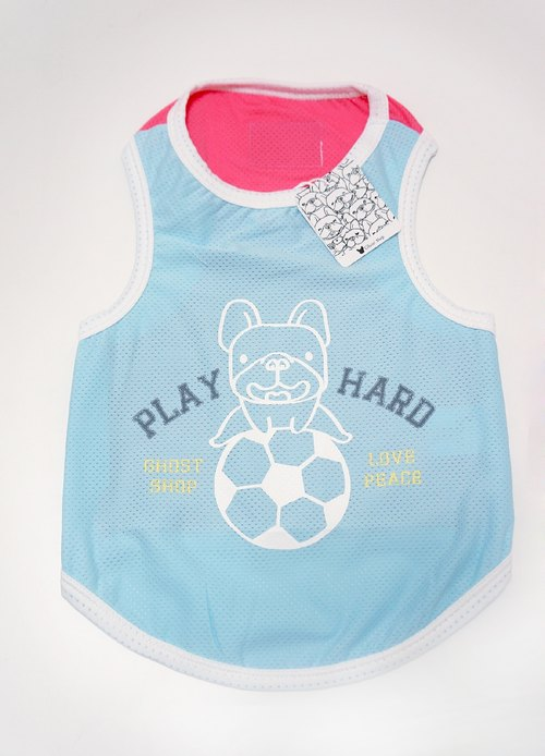 (Sold out) Pet sports vest - Soccer method bucket - white trim