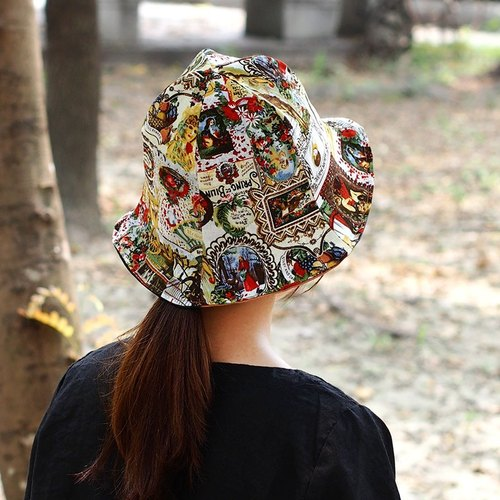 Calf village Calf Village sided handmade hat cap visor} {British life painting