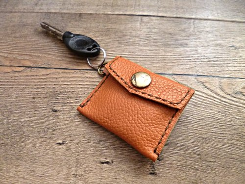 POPO│ caramel color palm lightweight │ │ key small purse pure leather