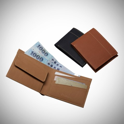 Lo que [x] just elegant fashion leather short paper clip, imitation leather short wallet