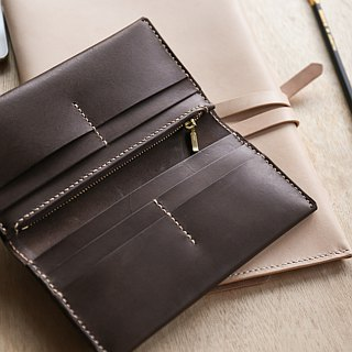 Shekinah Handmade Leather - Minimalist clip with zipper