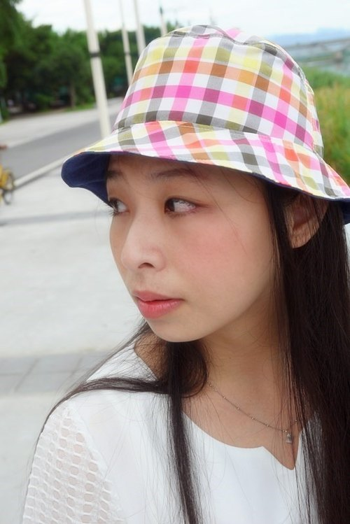 Bucute travel light twin with hat - geometric lines / Global Limited / Exclusive / handmade /