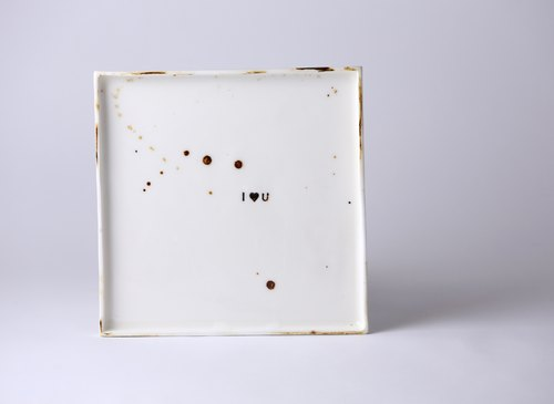 Free hand to make love square plates [L]