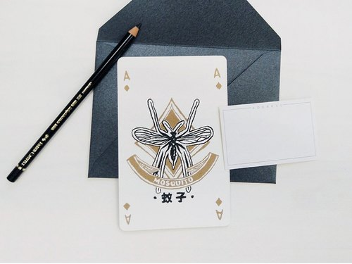 Series of Poker - A / mosquito - Cards / Postcards